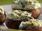 Four-Cheese Stuffed-Silly Mushrooms