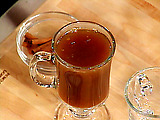 Hot Apple Cider with Rum