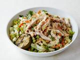 Chinese Chicken Salad with Red Chile Peanut Dressing