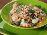 "Turkey and Mushroom Creamy Tomato ""Gravy"" With Gnocchi"