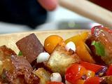 Tomato and Garlic Crouton Salad