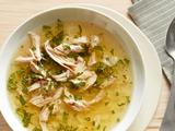 Portuguese Chicken, Lemon and Mint Soup