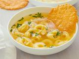 Cheese Tortellini in Light Broth