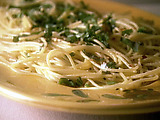 Spaghetti with Garlic, Olive Oil and Red Pepper Flakes