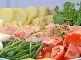 Roasted Salmon Nicoise Platter