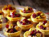 Mexican Ricotta Cheesecakes with Apple and Cranberry Compote