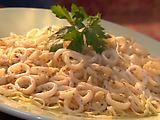 Charred Calamari with Roasted Garlic Broth