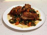 Spring Chicken with Carrots and Peas