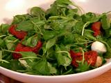 Roasted Tomato, Arugula and Mozzarella Salad