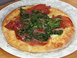 Fontina, Arugula and Prosciutto Pizza - New York Style Pizza