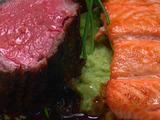 Pan-seared Salmon served with Wasabi Mashed Potatoes