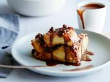 Challah Bread Pudding with Chocolate and Raisins