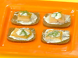 Smoked Trout Canapes with Creme-Fraiche and Herb Sauce for Two