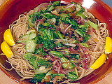 Whole Wheat Spaghetti with Greens, Lemon, and Ginger
