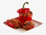 Roasted Red Bell Peppers with Eggplant (Funghetto)