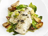 Tilapia with Escarole and Lemon-Pepper Oil