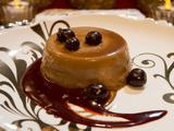 Cappuccino Panna Cotta with Chocolate Sauce