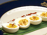 Deviled Eggs with Apple Compote