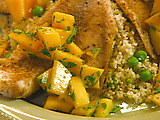Moroccan-Style Tilapia with Cumin, Mango and Cilantro