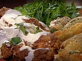Southwestern-Style Fried Chicken Wings with Kicked-Up Jalapeno Poppers and a Creamy Chipotle-Cilantro Sauce
