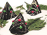 Moist Chocolate Cake Xmas Trees