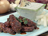 Hot Wings with Blue Cheese-Yogurt Sauce