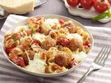 Orecchiette with Mini Chicken Meatballs