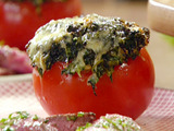 Creamed Spinach Stuffed Tomatoes