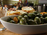 Marinated Olives with Rosemary, Red Chili, Orange and Paprika