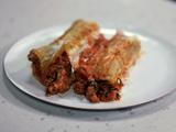Veal or Turkey and Spinach Manicotti