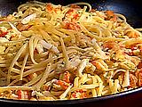 Emerils Hot Crab and Crawfish Pasta