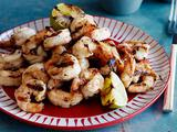 Grilled Shrimp Scampi Style with Soy Sauce, Fresh Ginger and Garlic