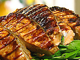 Grilled Salmon with Chinese Barbeque Sauce
