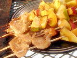 Grilled Abalone Steak and Fruit Skewers