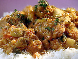 Chicken and Vegetable Stew in Peanut Butter Tomato Sauce: Mafe