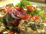 Lemon and Herb Crusted Halibut