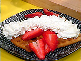 Sugar Waffles with Berries and Whipped Cream