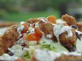 Fried Chicken Salad with Buttermilk-Chive Dressing