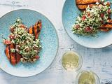 Jicama Tabbouleh and Chicken Salad