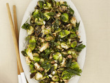 Fried Brussels Sprouts with Walnuts and Capers