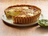 Chorizo and Goat Cheese Quiche