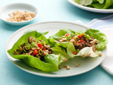 Lettuce Cups with Tofu and Beef