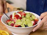 Fresh Fruit Salad with Honey Vanilla Yogurt
