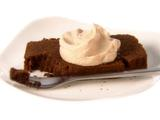 Chocolate Mascarpone Pound Cake with Coffee Meringue Icing