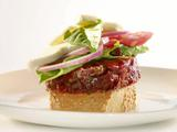 Italian Meatball Meatloaf Sandwiches