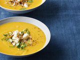 Roasted Butternut Squash Soup and Curry Condiments