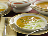 Roasted Butternut Squash Soup and Roasted Parsnip Soup