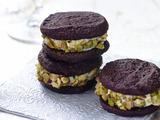Chocolate Cannoli Sandwich Cookies