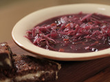 German-Style Sweet and Sour Red Cabbage Soup
