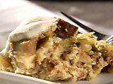 Apple-Cinnamon Bread Pudding with Ginger Ale Sauce